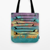 Let's Go Surfing! Tote Bag