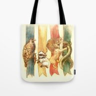 Tote Bag featuring House Brawl by Alice X. Zhang