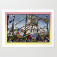 NEPALI PRAYERS CARRIED B… Art Print