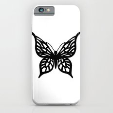 Butterfly Black on White Slim Case iPhone 6s