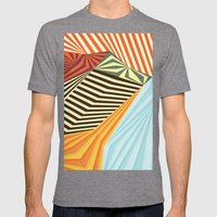 Yaipei Mens Fitted Tee Tri-Grey SMALL