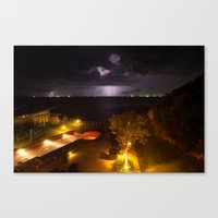 Storm On My Paradise Canvas Print