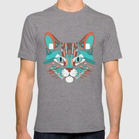 Cubist Cat Mens Fitted Tee Tri-Grey SMALL