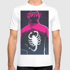 Drive (Night Version) Mens Fitted Tee SMALL White