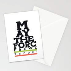 May the Force be with You - Star Wars Eye chart style Movie Poster Stationery Cards