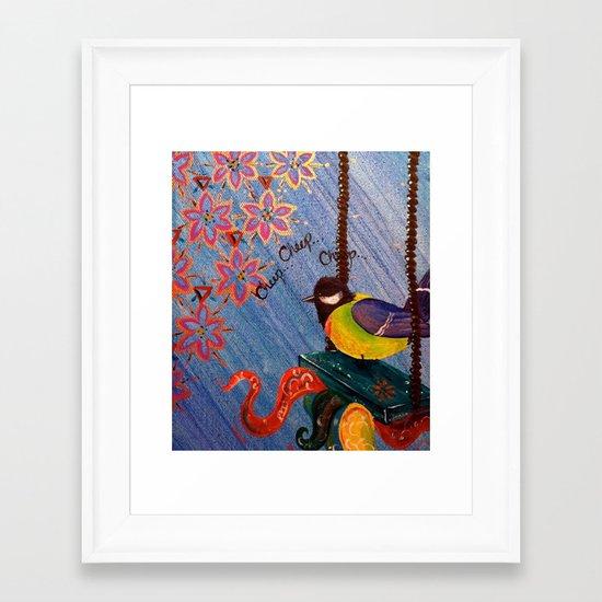 Cheep Cheep Framed Art Print