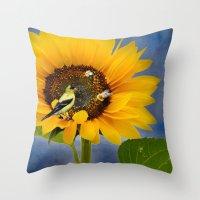Sweet sunflower Throw Pillow