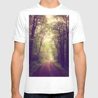The Sound of Fog Coming Down Mens Fitted Tee White SMALL