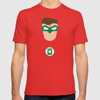 GREEN LANTERN Mens Fitted Tee Red SMALL
