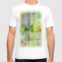 hyedra wall Mens Fitted Tee White SMALL
