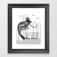 King Prawn Framed Art Print