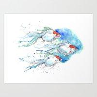 Goldfish Series - Oranda… Art Print