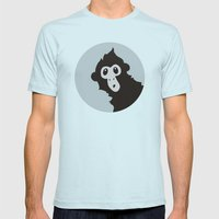 Spider Monkey - Peekaboo… Mens Fitted Tee Light Blue SMALL
