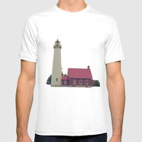 Lighthouse  Mens Fitted Tee White SMALL