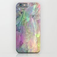 iPhone Cases featuring Sweet Pastel Garden Hydrangea Abstract by Judy Palkimas