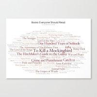 Books Everyone Should Read (Original-version) Canvas Print