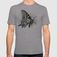 Butterfly Mens Fitted Tee Athletic Grey SMALL