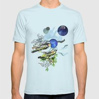 Yellow Birds Mens Fitted Tee Light Blue SMALL