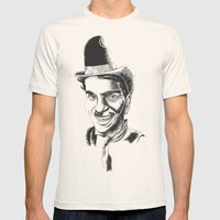 The Comedians Mens Fitted Tee Natural SMALL
