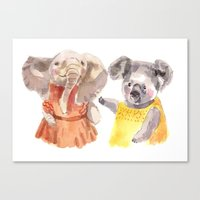 Canvas Print featuring Two friends by Becca Kallem