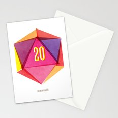 Rolling D20's Like A Big Shot  Stationery Cards