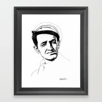 Woody Guthrie Framed Art Print