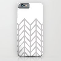 GRAY & WHITE LACE CHEVRON iPhone 6 Slim Case