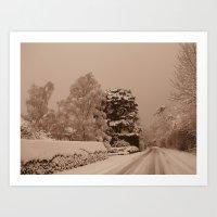 Snow In Windsor Art Print