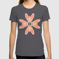 Sphynx Cat Pattern Womens Fitted Tee Asphalt SMALL