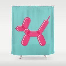 Balloon Dog Shower Curtain