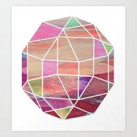 Geometric Tundra  Art Print
