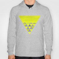 Triangle Dip Lime Hoody