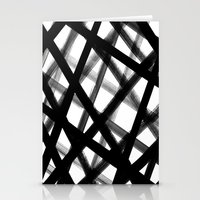 Criss Cross Black and White Stationery Cards