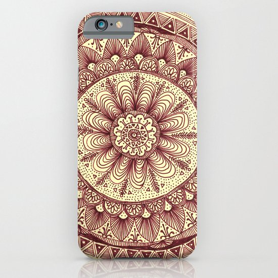 mandala: maroon iPhone & iPod Case