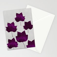 Mapleleaf Purple Stationery Cards