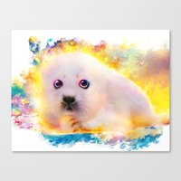 Curious Seal Canvas Print