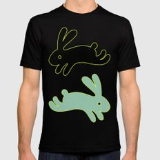 Bunny Honey SMALL Mens Fitted Tee Black