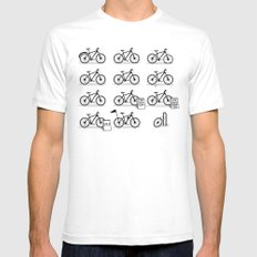 Life Cycle Mens Fitted Tee White SMALL