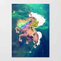 Gaga&Horse (The Galactic Tour of orgasms stellars from Unicorn) Canvas Print