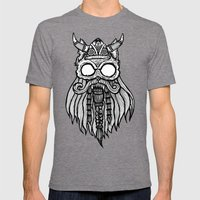Viking Cat Mens Fitted Tee Tri-Grey SMALL
