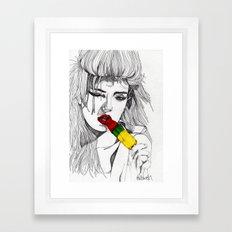 ICE LOLLY GIRL Framed Art Print