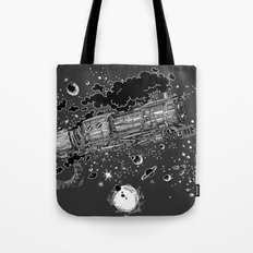 Space Train Tote Bag