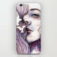 Dreams of freedom, watercolor artwork iPhone & iPod Skin
