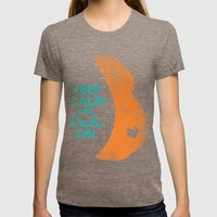 KEEP CALM and DOULA ON Womens Fitted Tee Tri-Coffee SMALL