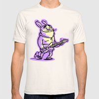 Beat Bunny Mens Fitted Tee Natural SMALL