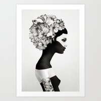 cute Art Prints featuring Marianna by Ruben Ireland