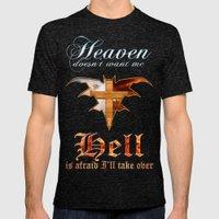 Heaven & Hell Bat Mens Fitted Tee Tri-Black SMALL