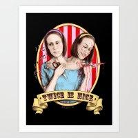 Tattler Twins (color) Art Print