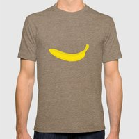 Banana print Mens Fitted Tee Tri-Coffee SMALL