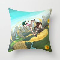 A ride with Son Goku Throw Pillow